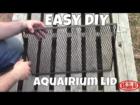 How to build an Aquarium lid for your reptile!