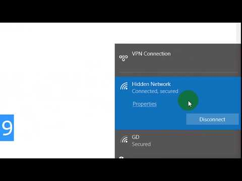 CONNECT to Hidden Wireless Networks In Windows 10