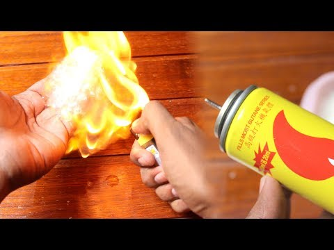 Fire Hands! fire experiments