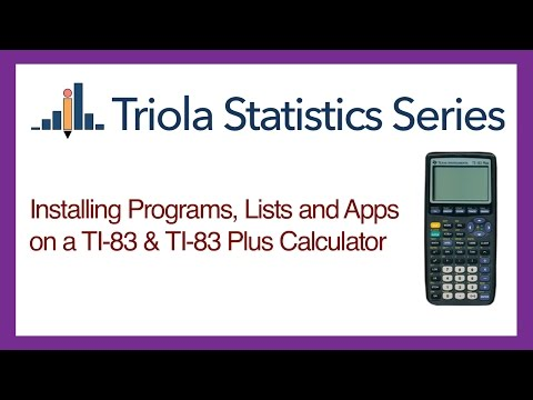 Installing Programs, Lists and Apps on TI-83 Calculators