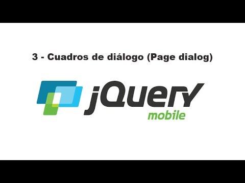 Curso de jQuery Mobile 3 - Cuadros de diálogo (Page dialog)
