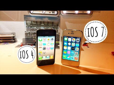 iPhone 4 iOS 4 vs. iOS 7