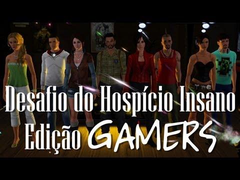 The Sims 3 - Desafio do Hospício Insano - Edição Gamers (Ep.1)