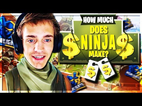 HOW MUCH DOES NINJA MAKE!? **All Income Sources** Twitch, YouTube, Merch, Affiliate, Sponsors, Etc