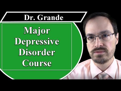 What is the Course of Major Depressive Disorder?