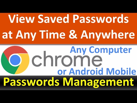 View Saved Passwords anytime even if your mobile or Laptop is not with you (Chrome Password Manager)