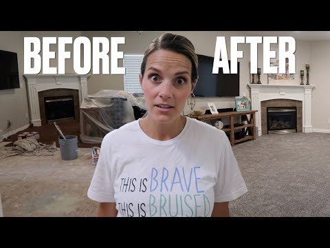 HOME REMODEL AFTER HOUSE FLOOD   NEW HOUSE TOUR