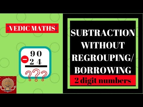 SUBTRACTION TRICKS IN VEDIC MATHS   SUBTRACTION WITHOUT BORROWING   GREY MATTERZZZ