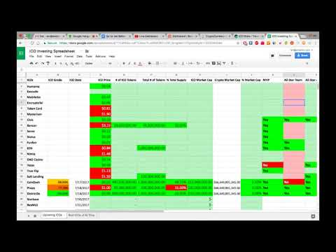 Ian Balina (my mentor) ICO Spreadsheet Breakdown (Advanced)