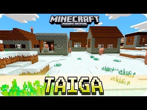 Minecraft PE Seeds - 3 Snow Taiga Villages & Abandoned Mineshaft - 0.16.0 / 0.15.0 MCPE