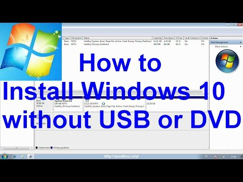 How to install Windows 10 without USB or DVD