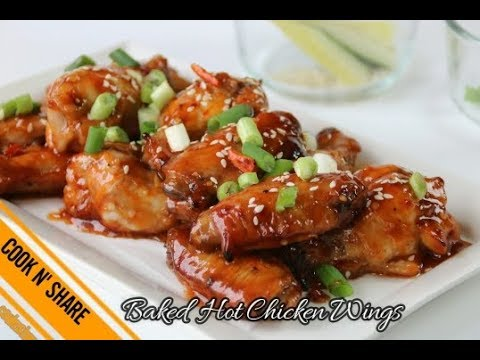 Hot Spicy Baked Chicken Wings