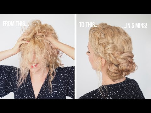 Fast hair hacks - Quick hair tutorial for messy or curly hair