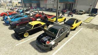 Grand Theft Auto V Online (XB1)   Street Car Meet Pt.11   Rims Get Stolen, Drags, Drifting & More