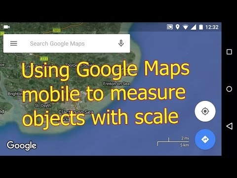 How to use Google Maps Mobile to measure small objects with scale