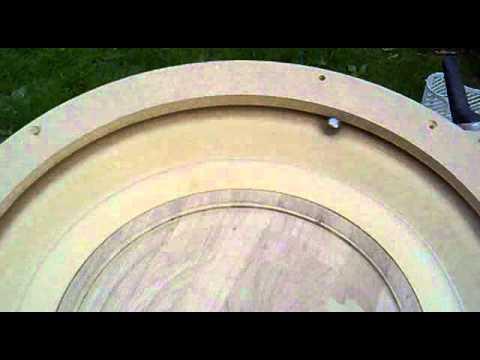 DIY Roulette Wheel - The bowl is cut