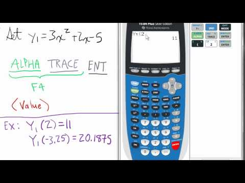 Finding a (Y) value of a Function TI 84 Calculator