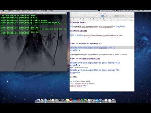 MAC OS X Terminal komutlari TOP 5