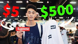 Trading a $5 Supreme Sticker to a $500 Supreme CDG Box Logo! (Sneakercon Atlanta)