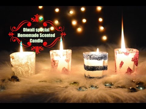 DIY Scented Candle shots | Homemade Diwali candles| Diwali gift ideas | Diwali home decoration