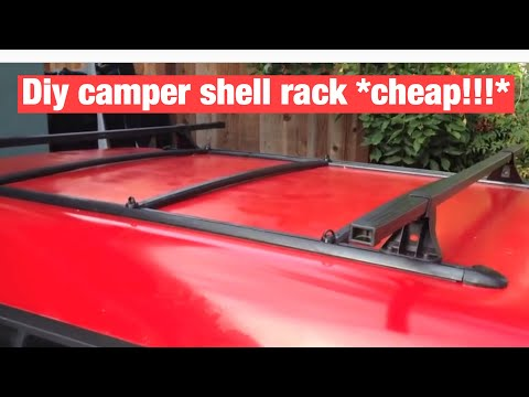 DIY camper shell rack