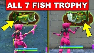 """""""Dance with a Fish Trophy at different Named Locations"""" - ALL 7 LOCATION WEEK 8 CHALLENGES FORTNITE"""