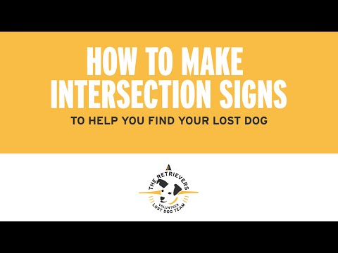 Lost Dog Sign Tutorial