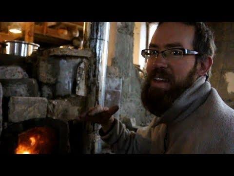 WE'VE GOT HEAT!! 1st time firing the brick cookstove.