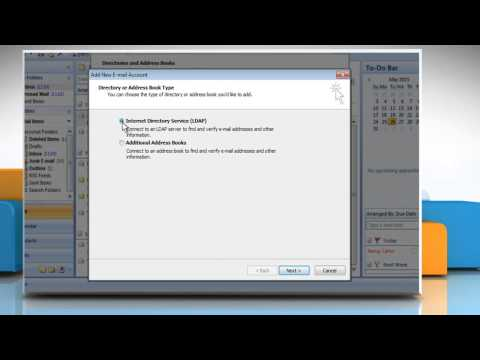 How to add an address book in Microsoft® Outlook 2007