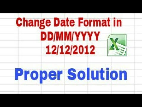 How to Change Date Format in DD MM YYYY in Excel