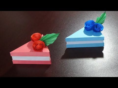 Cake Slice Box | How To Make An Origami Cake Slice Box | Easy And Simple Steps |