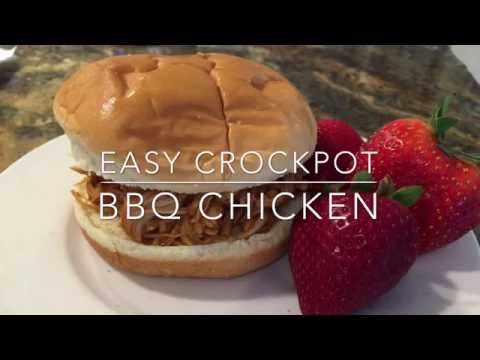 Easy Crockpot BBQ Chicken : Delicious
