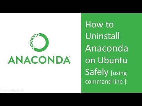 How to uninstall Anaconda from Ubuntu safely ( Command line uninstallation)