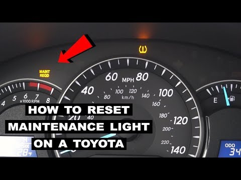 How to Reset Maintenance Light on a Toyota Camry