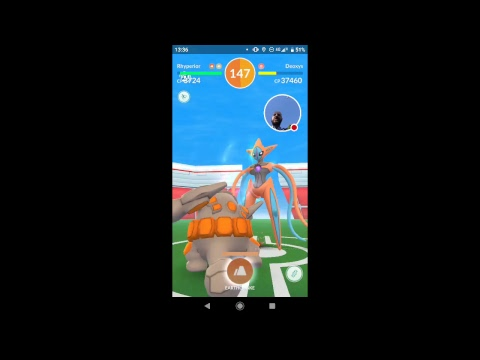 18 seconds left... LOL SOLOING DEOXYS ATTACK IN POKÉMON GO!