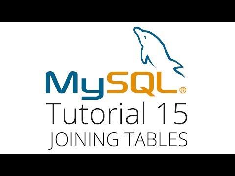 MySQL tutorial 15 - joining 2 tables
