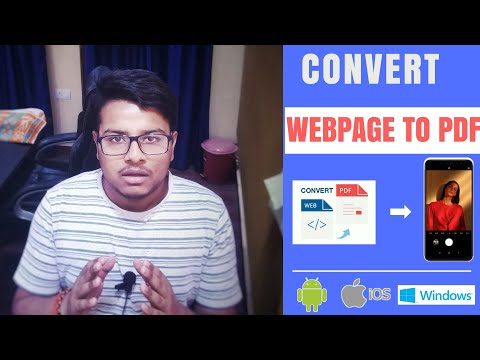 How to convert webpage(URL) to PDF from smartphone