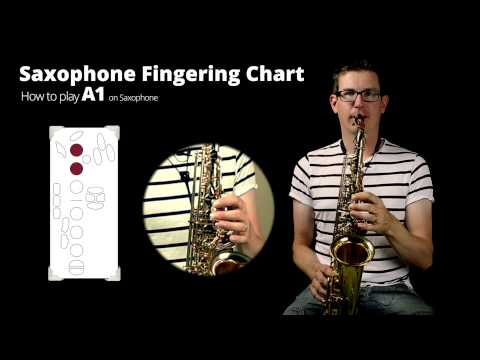 How to play A1 on Saxophone: Saxophone fingering chart video