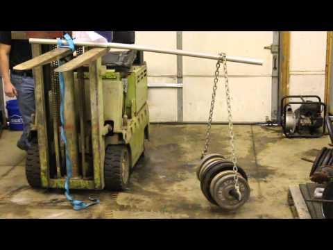 Chain Link Fence Line Post Strength Test