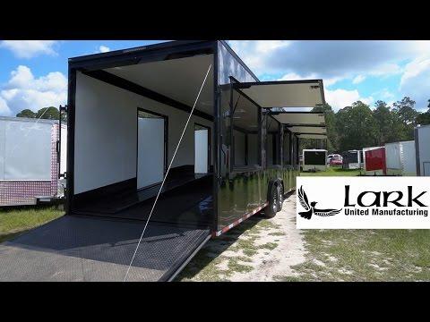 8.5 x 30 Enclosed Exotic Car Hauler w/ Ramp Over Design