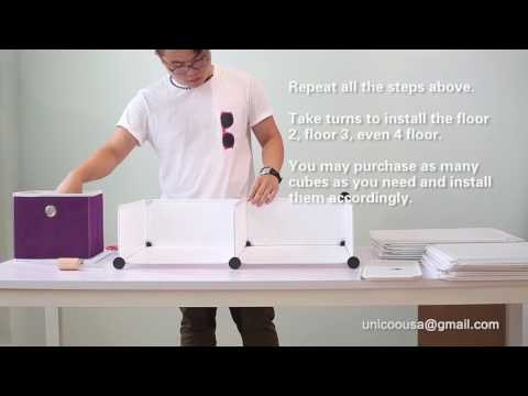 Unicoo Cube Organizer Installation Instruction