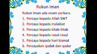 Ayo Belajar Rukun Islam dan Rukun Iman!!!!