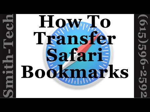 Apple Safari Tutorial - How To Transfer Your Bookmarks To Another Computer