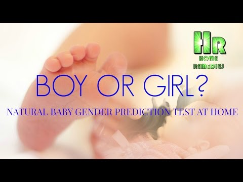 NATURAL BABY GENDER PREDICTION TEST AT HOME