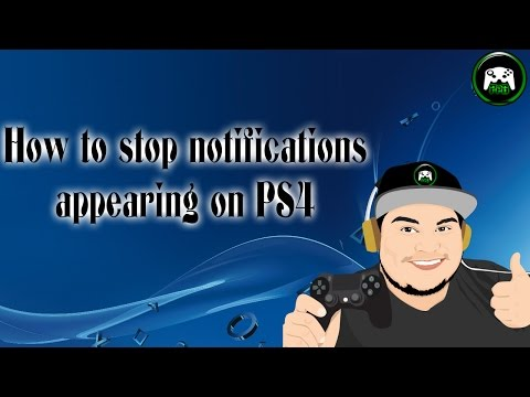 How to stop notifications appearing on PS4