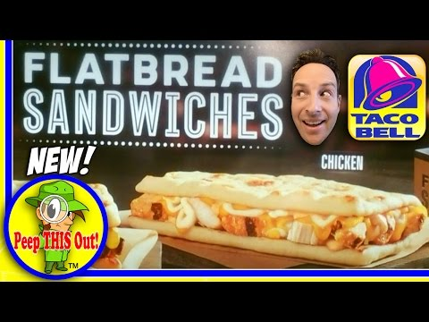 Taco Bell® | Chicken Flatbread Sandwich Review! Peep THIS Out!