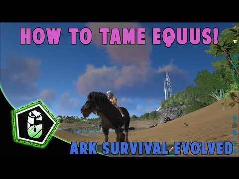 Ark Survival Evolved - How To Tame Equus! (PC, XBOX ONE, PS4)