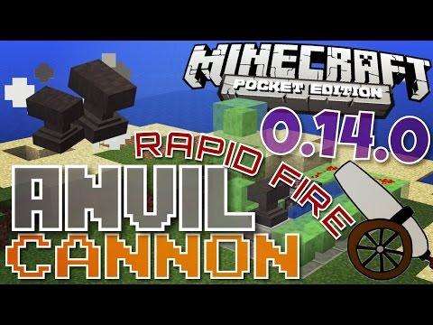 ✔️Minecraft PE 0.14.0 - RAPID FIRE ANVIL CANNON! || MCPE 0.14.0 {Minecraft Pocket Edition}