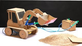 How To Make JCB Bulldozer at Home