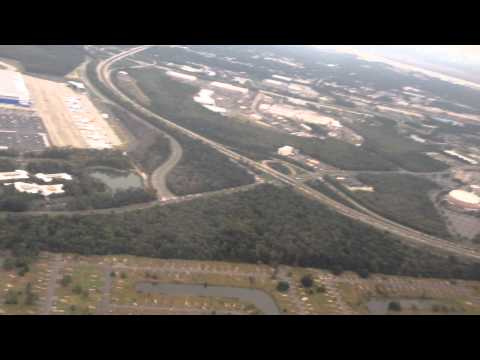 Charleston South Carolina flying over Dreamliner Boeing Plant
